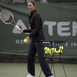 Tennisballenmand voor coaches zwart - 829678
