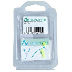 Accessoires hengelsport elastiekmontage dop hol topeinde Stonfo geel