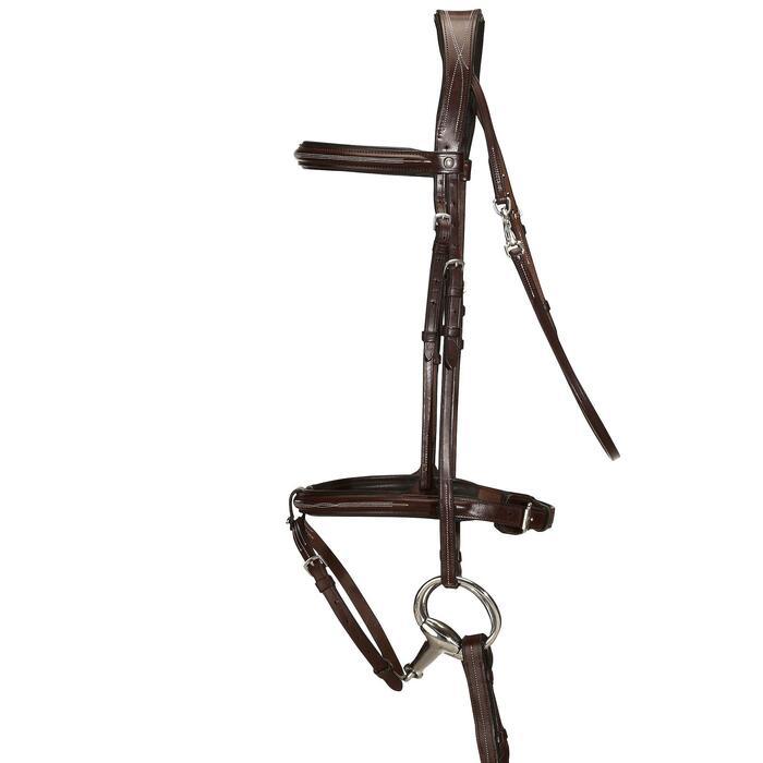 Filet + rênes équitation cheval et poney TINCKLE marron - 830352