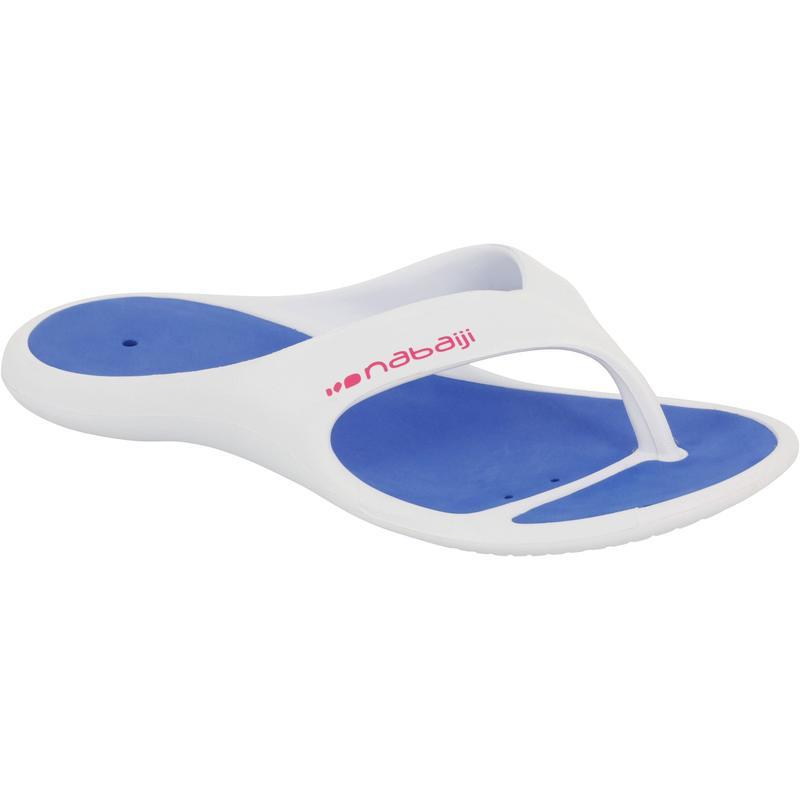 WOMEN'S TONGGA SFU 500 POOL FLIP-FLOPS WHITE BLUE