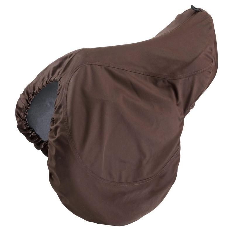 Housse de protection pour selle équitation brun