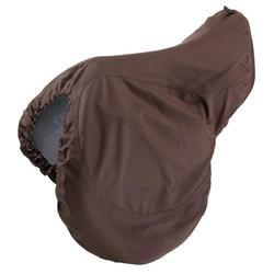 Beschermhoes voor zadel ruitersport bruin