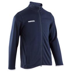 T100 Kids' Football Training Jacket - Blue