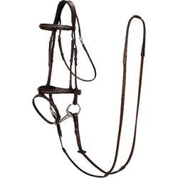 Cabezada + riendas equitación caballo y poni TINCKLE marrón
