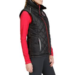 Damesbodywarmer Performer 500 ruitersport zwart en grijs visgraat - 830859