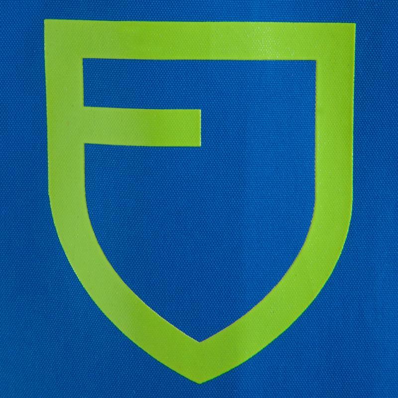 Chaqueta impermeable de fútbol niños T500 azul