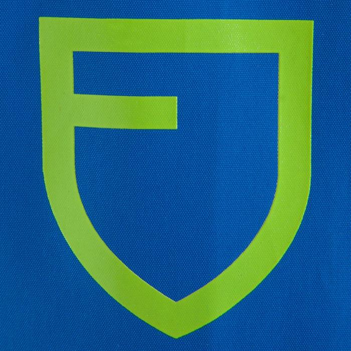 Veste imperméable de football enfant T500 bleu - 830934