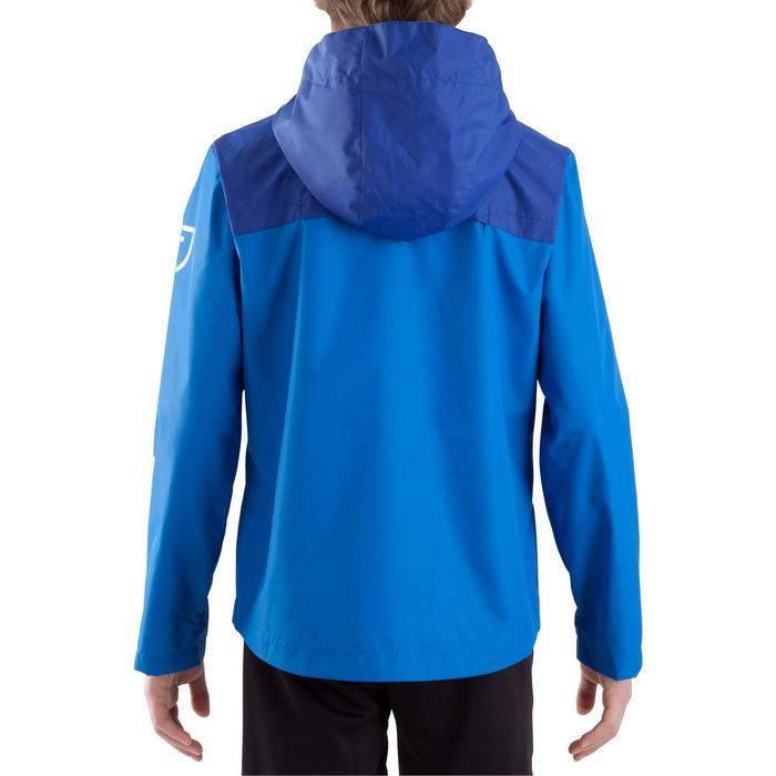 Veste imperméable de football enfant T500 bleue