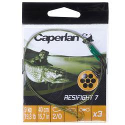 Onderlijn roofvishengelen Resifight 7 enkele haak 12 kg x3