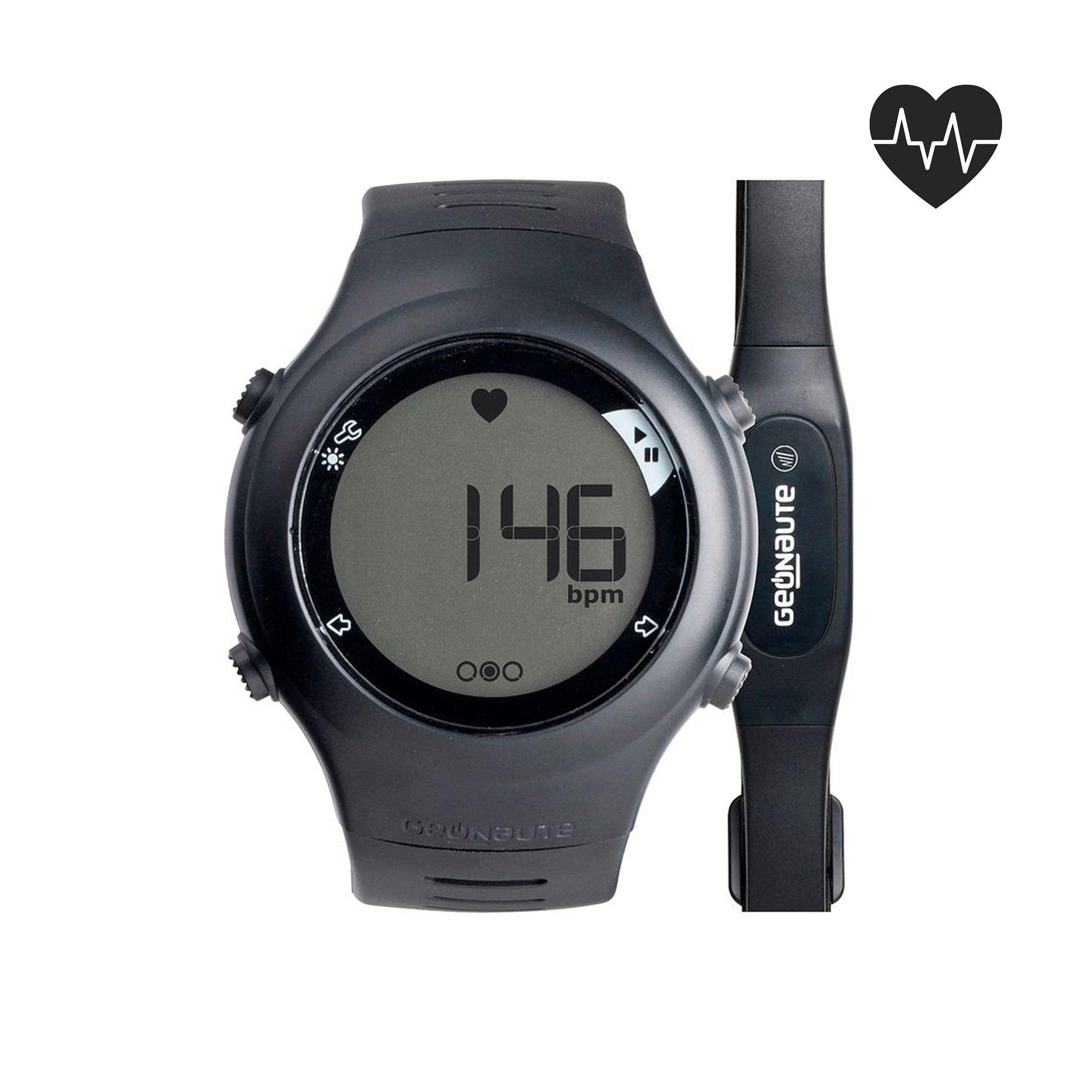 Reloj y cinturón cardiofrecuencímetro ONRHYTHM 110 negro