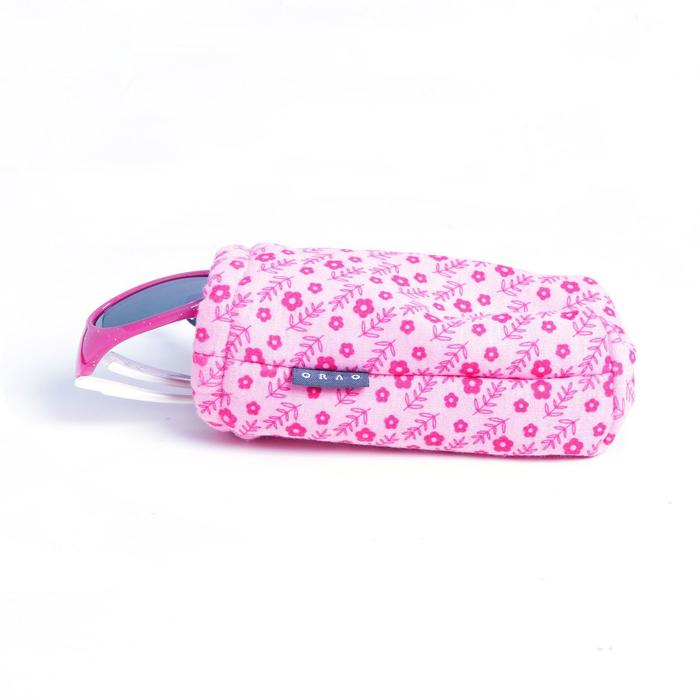 Etui en tissu pour lunettes de soleil bébé et enfant CASE 140 JR rose
