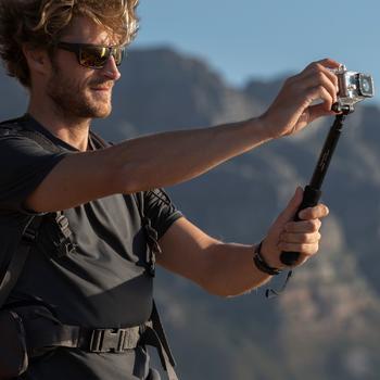 Uitschuifbare selfiestick Co-Nect voor sportcamera's.