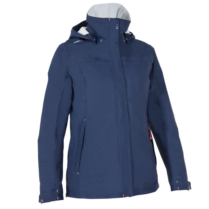 WM SAILING COLD WTR WATERPROOF CLOTHES Sailing - 100 Women's Warm Jacket - Blue TRIBORD - Sailing Clothing