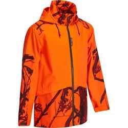 Waterdichte jas voor drijfjacht en jacht Supertrack 100 fluo
