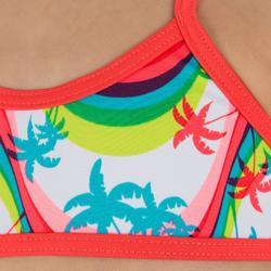 Meisjesbikini met topje zonder sluiting en gekruiste bandjes op de rug Palmier - 832902