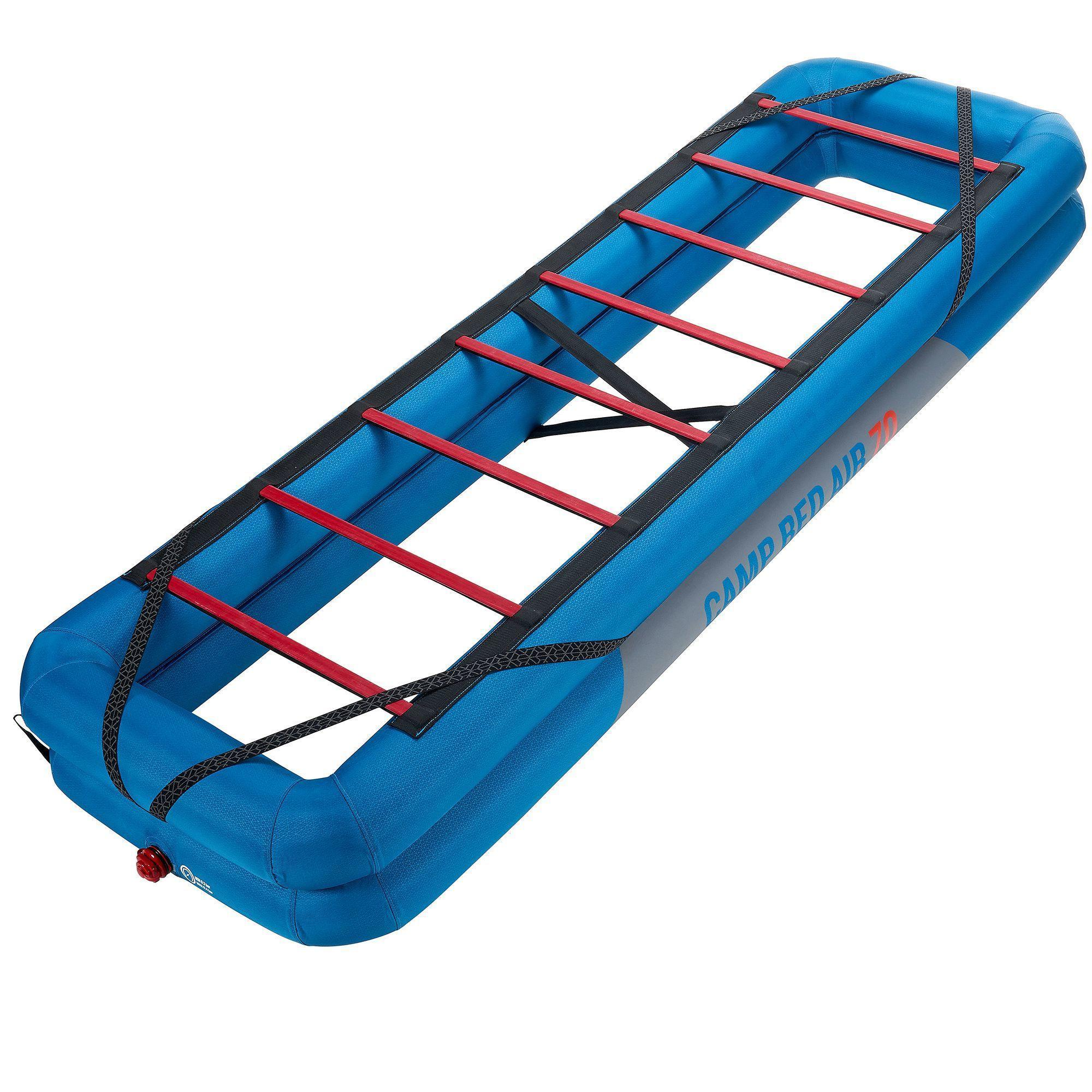 inflatable quechua camp bed id air pers beds base