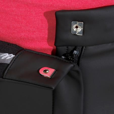 Pantalón impermeable cálido y transpirable equitación mujer KIPWARM negro