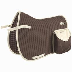 Trail Hacking Horse Riding Saddle Cloth for Horses - Brown