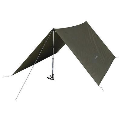 Tarp Abri Camping Multifonction Kaki _PIPE_ 9m²