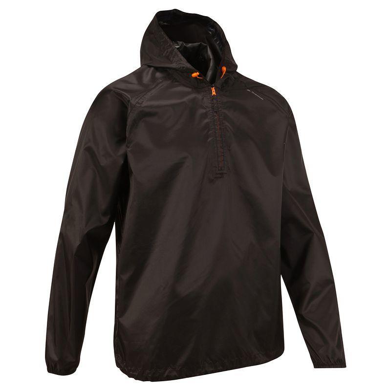 Rain-Cut Men's Hiking Waterproof Rain Jacket - Black