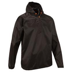 Regenjas voor natuurwandelen en hiking NH100 Raincut zwart heren