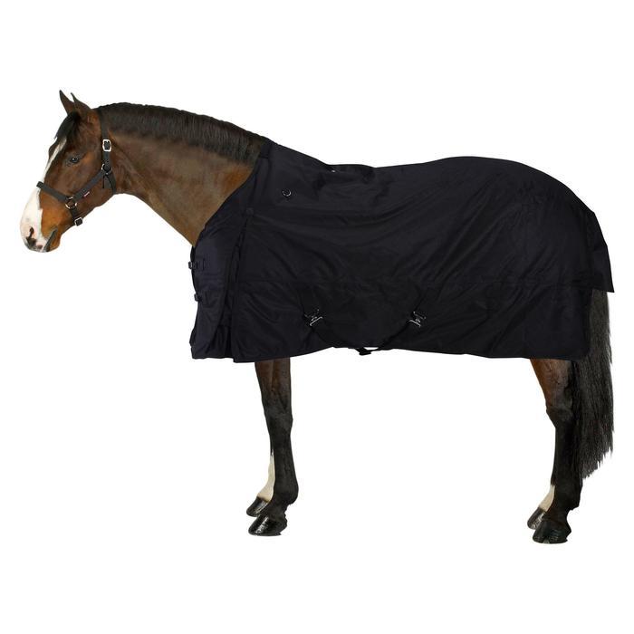 Couverture imperméable équitation poney cheval ALLWEATHER 200 600D noir - 833382