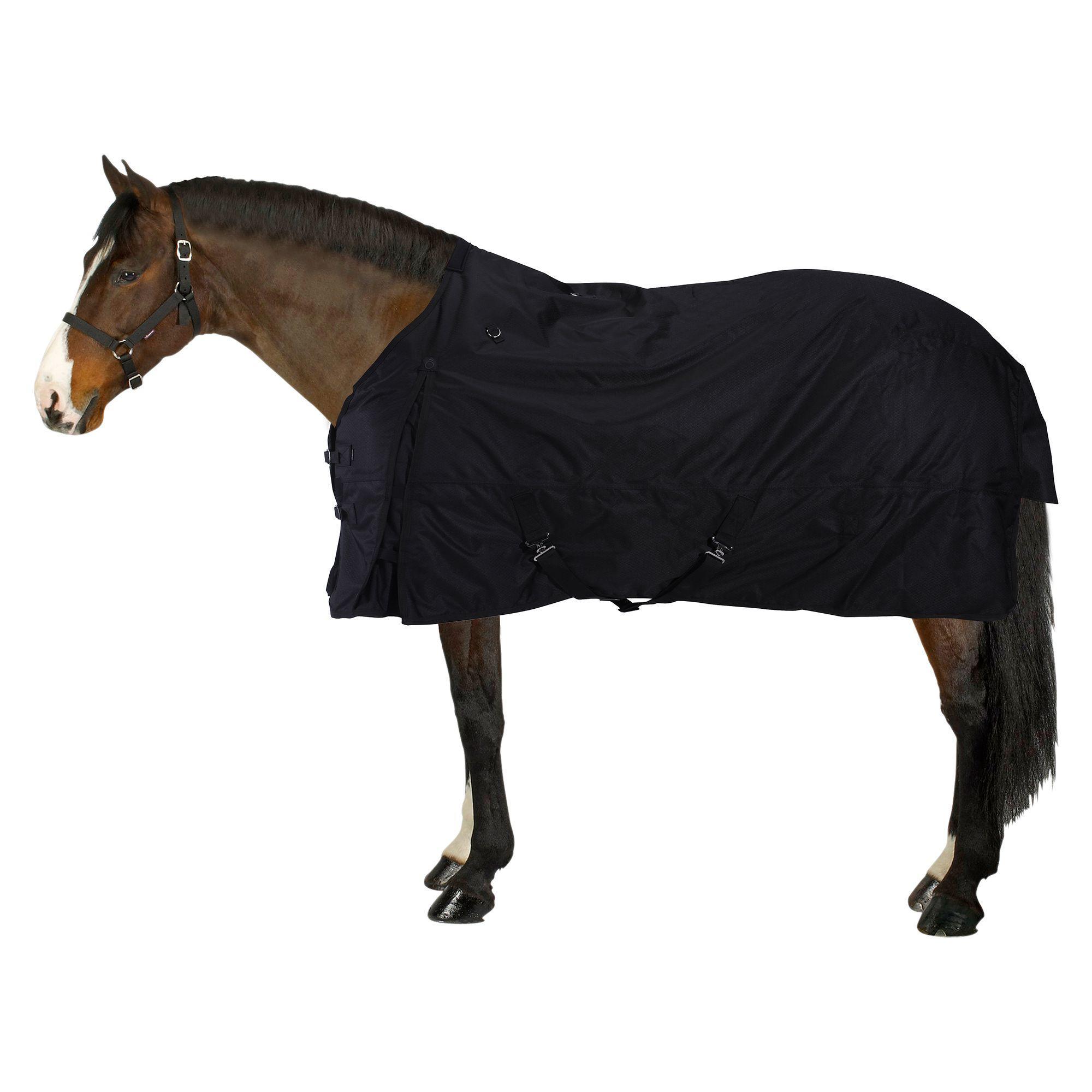 Fouganza Waterdichte outdoordeken ruitersport paard en pony Allweather 200 600D zwart