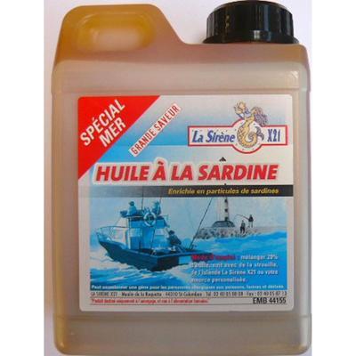 Huile de sardine 1L pêche en mer