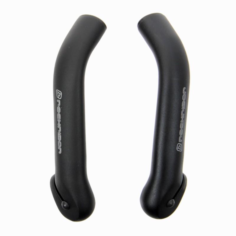 Comfort bicicleta pinzamientos 120mm cerrado ergonómicamente negro-gris Mango de goma