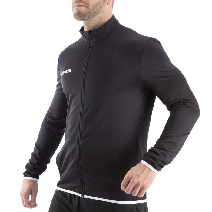 Veste d'entraînement de football adulte T100 noire - 833705