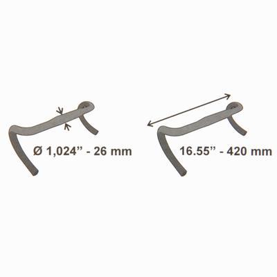 42 cm, 25.4 mm Diameter Road Handlebars