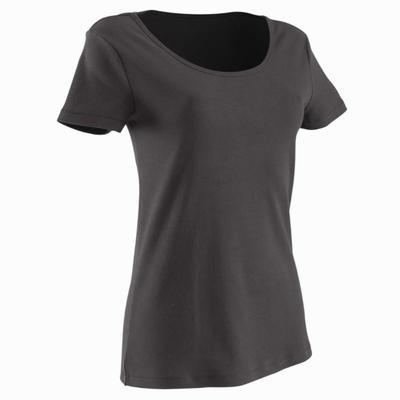 Tee-shirt en coton biologique femme gym douce, yoga, pilates noir