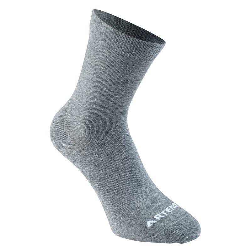RS 160 Adult High Sports Socks Tri-Pack - Grey