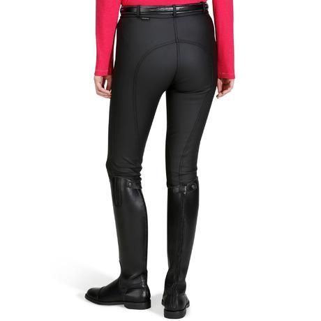 pantalon imperm able chaud et respirant quitation femme kipwarm noir fouganza. Black Bedroom Furniture Sets. Home Design Ideas