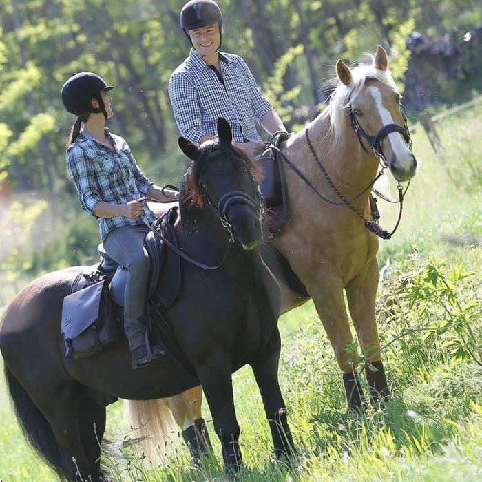 Longe équitation randonnée SENTIER marron - 834645