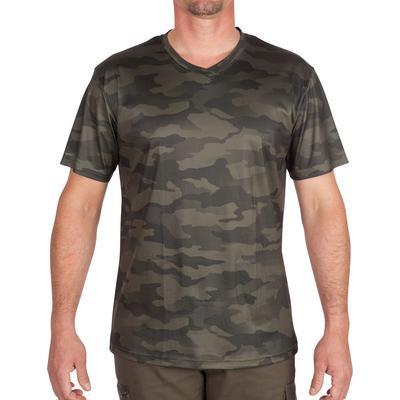 T-shirt manches courtes respirant chasse 100 camouflage kaki