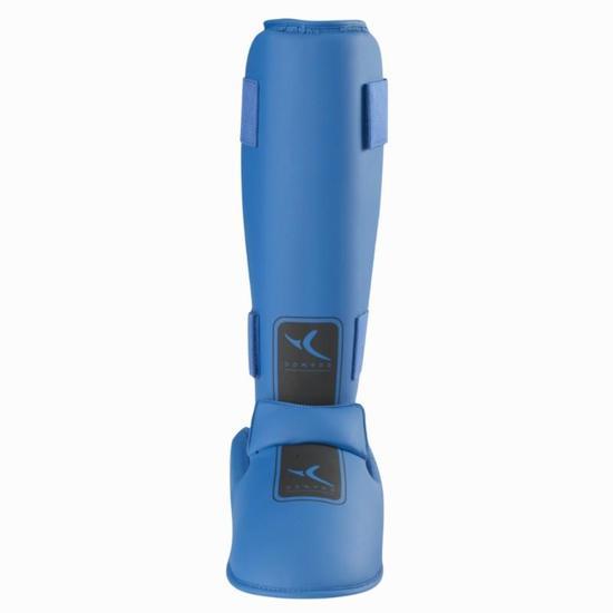 Scheenbeschermer met afneembare voetbeschermer martial arts blauw - 834924