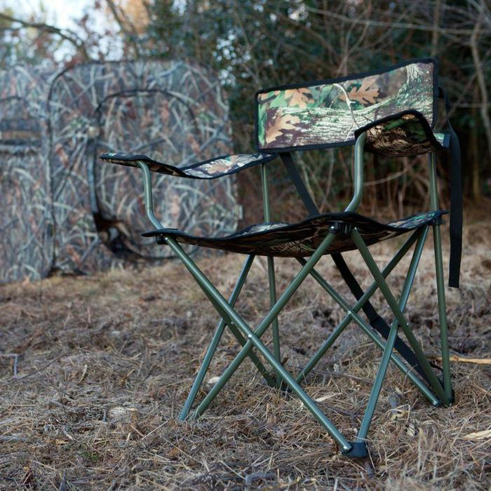 Fauteuil pliant chasse camouflage marais