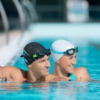 Lunettes de natation 100 EASYDOW Taille G Noir Vert