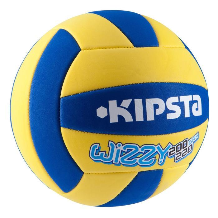 Ballon de volley-ball Wizzy 260-280g blanc et bleu à partir de 15 ans - 835583