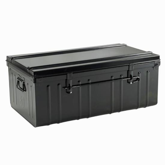 Zwarte metalen opbergkoffer ruitersport 95 liter - 835607