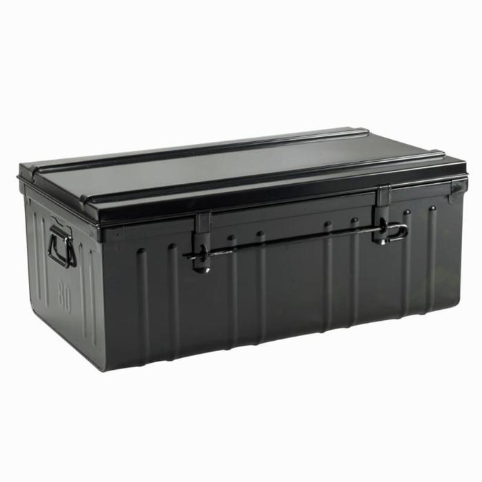 Zwarte metalen opbergkoffer ruitersport 95 liter