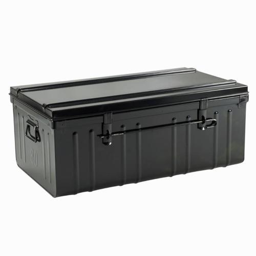 malle de rangement métal noir cantine 95 L