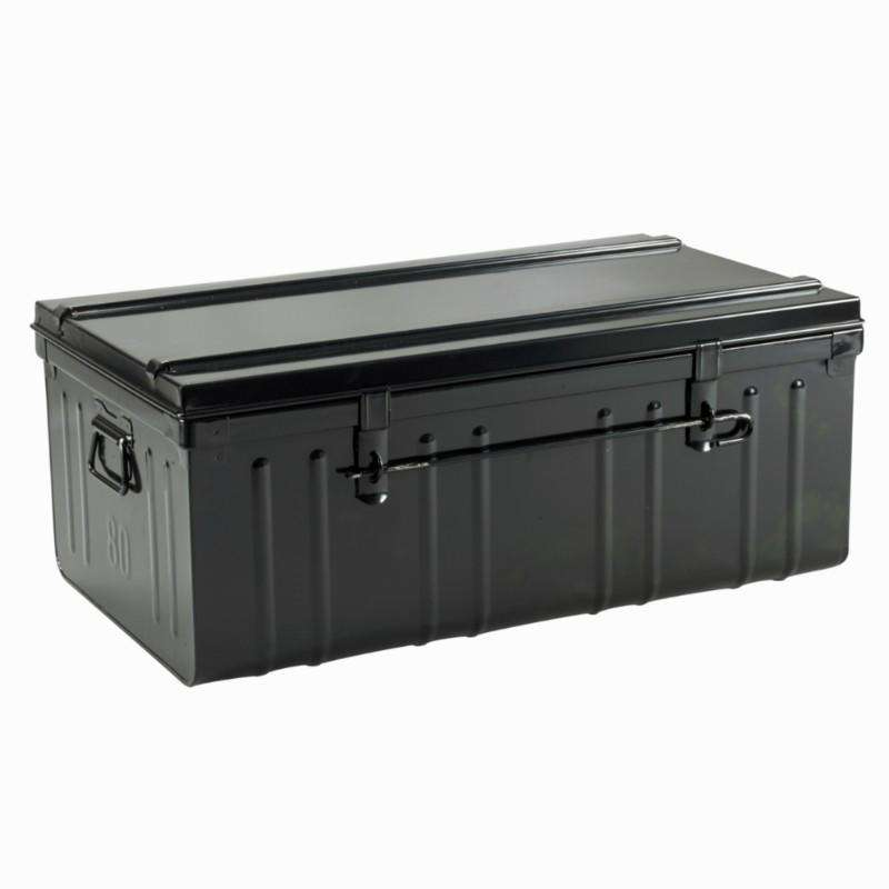 STABLE/YARD/TACKROOM Horse Riding - Metal 95L Trunk - Black PIERRE HENRY - Horse Riding BLACK
