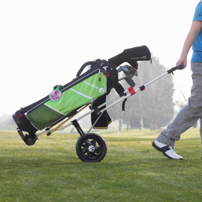 Golftrolley 100 Kinder 2 Räder zusammenklappbar zum Ziehen