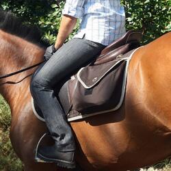 Damesrijbroek met rechte pijpen jeans grijs - 835872