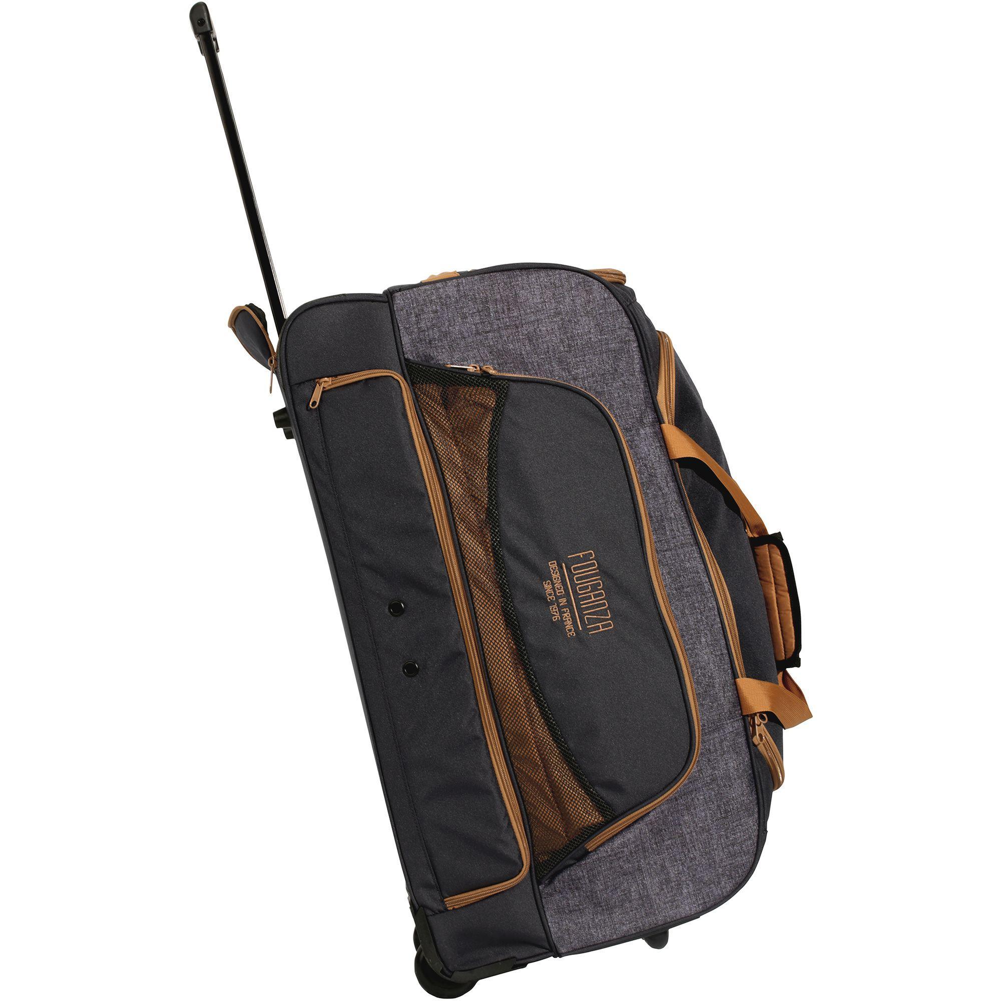 transporttasche mit rollen trolley sporttasche reitzubeh r 80l fouganza decathlon. Black Bedroom Furniture Sets. Home Design Ideas