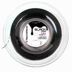 CORDAJE DE TENIS MONOFILAMENTO BLACK CODE 1,24 mm NEGRO 200 m
