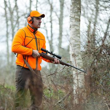 Polaire chasse réversible 500 fluo vert - 836214