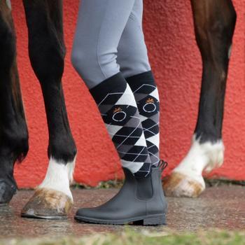 Boots équitation enfant et adulte SCHOOLING 100 noir - 836311